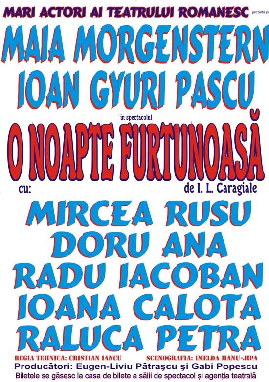 """Piesa de teatru """"O noapte furtunoasă"""" - 21 noiembrie - Cluj-Napoca"""