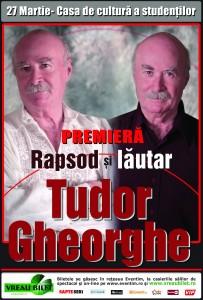 """Spectacol """"Tudor Gheorghe – Între Rapsozi și Lăutari"""" – 27 martie – Cluj-Napoca"""