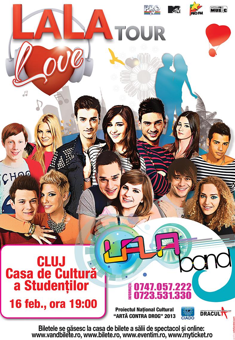 Afis LALA LOVE TOUR_cluj