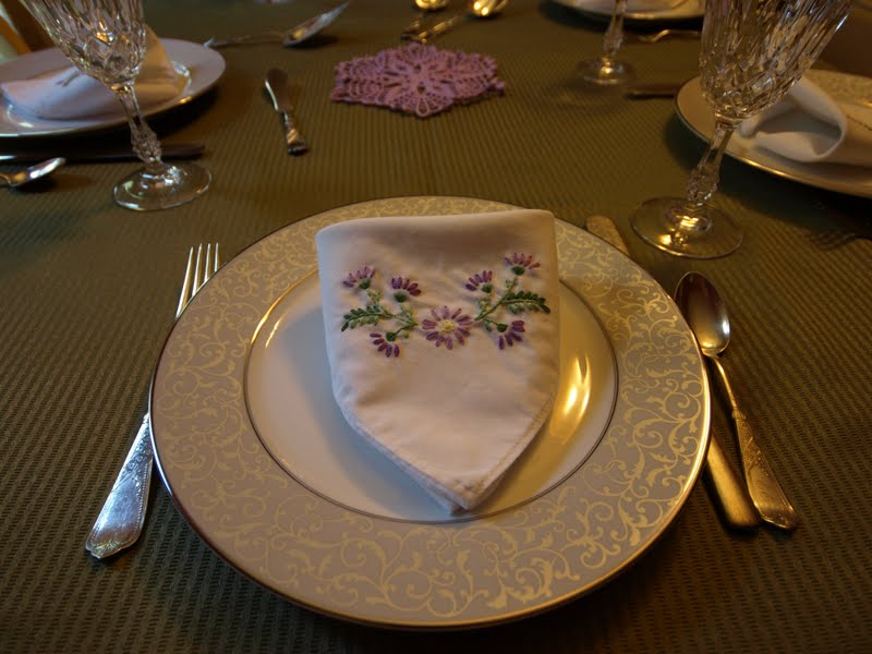 purple and green dinner setting 2