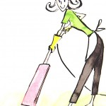 sketch_of_woman_cleaning