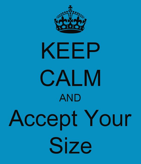 Acceptă-ți kilogramele!