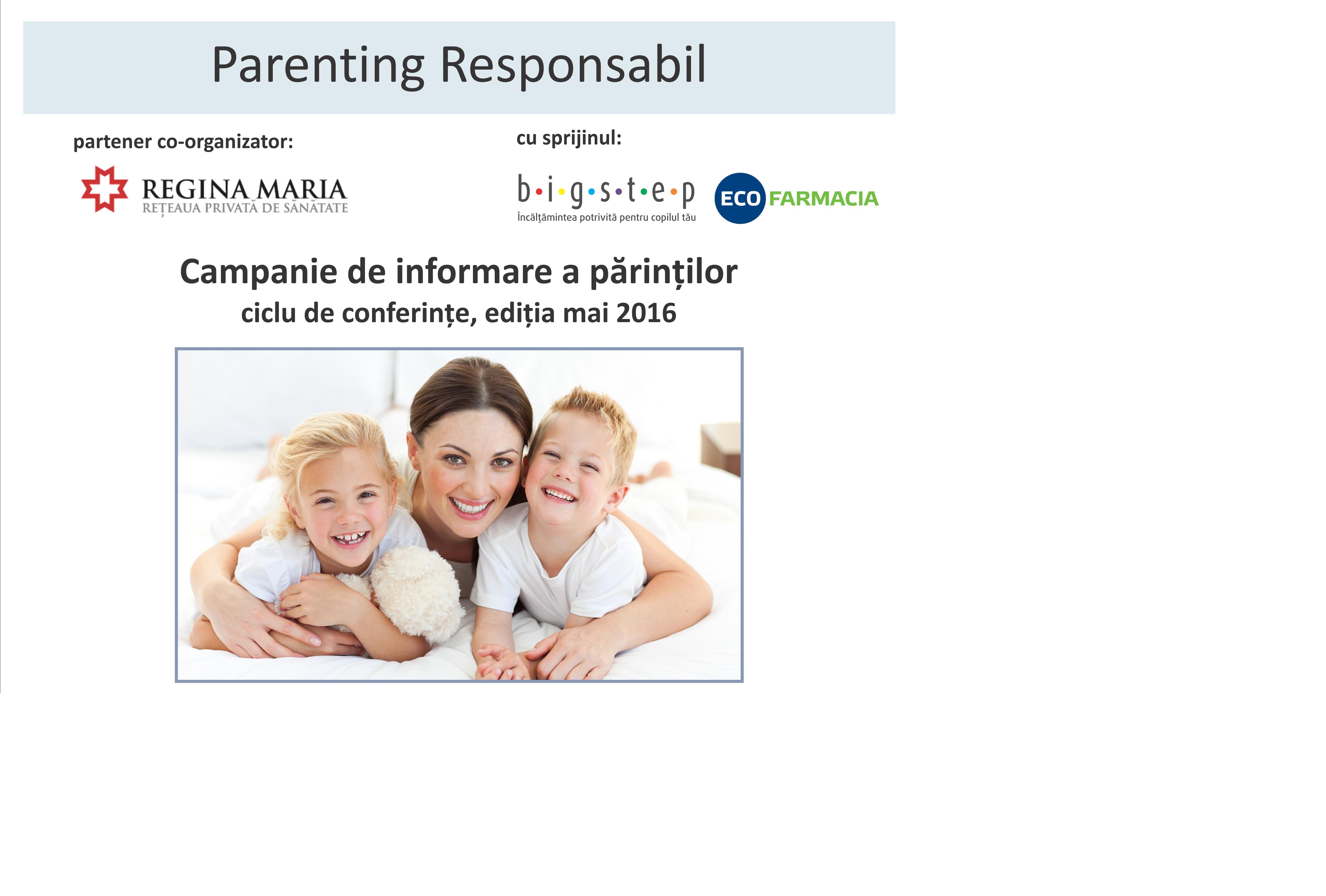 Ciclu de conferințe Parenting responsabil by Round Hill Club – ediția III