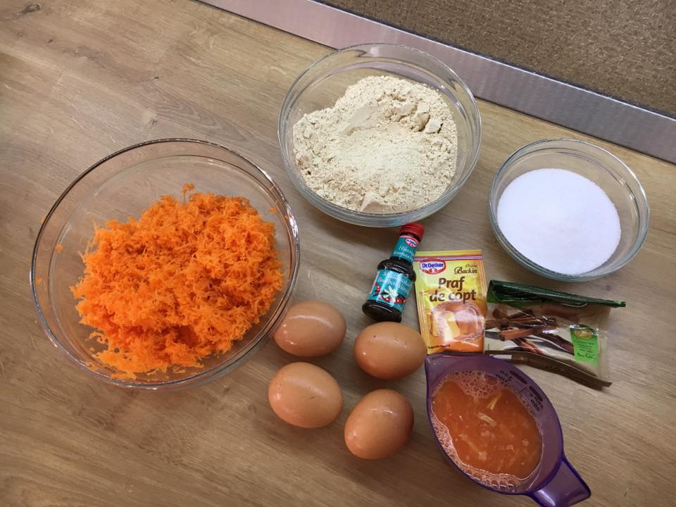 ingrediente carrot cake