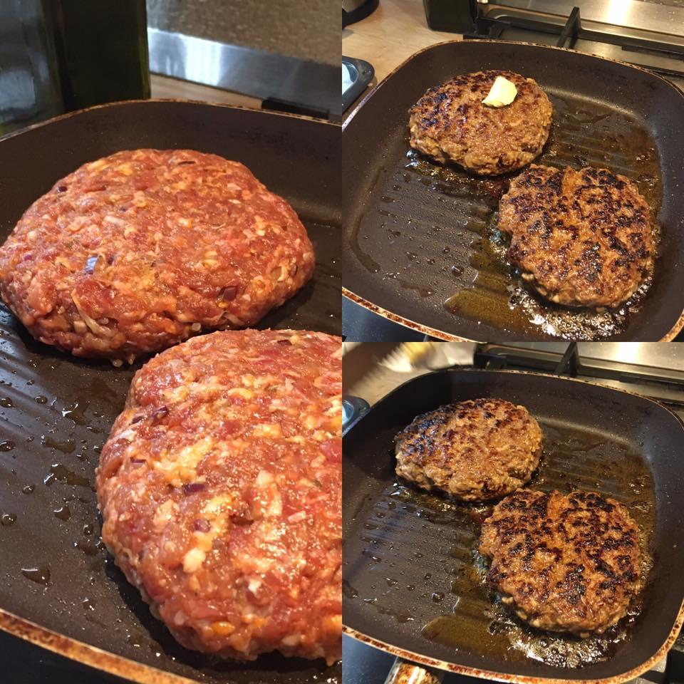 prăjire carne burgeri de casă