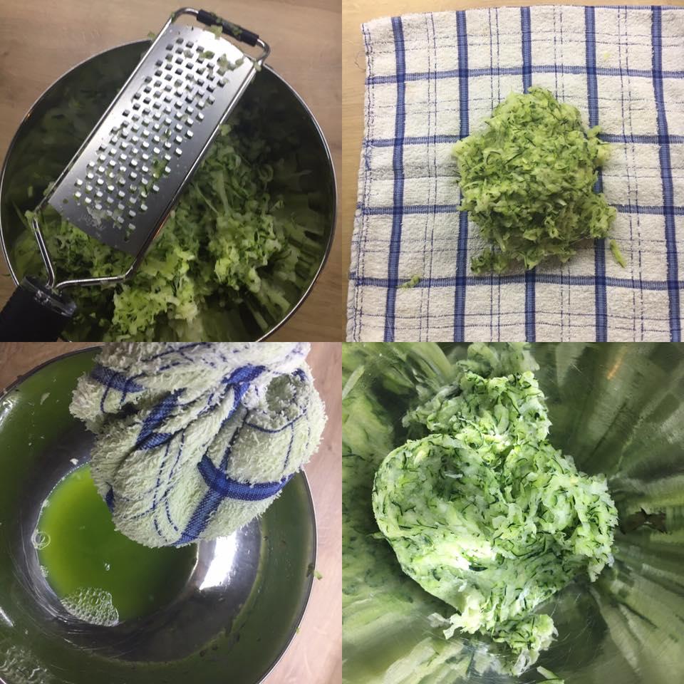 chifteluțe de zucchini cu ricotta