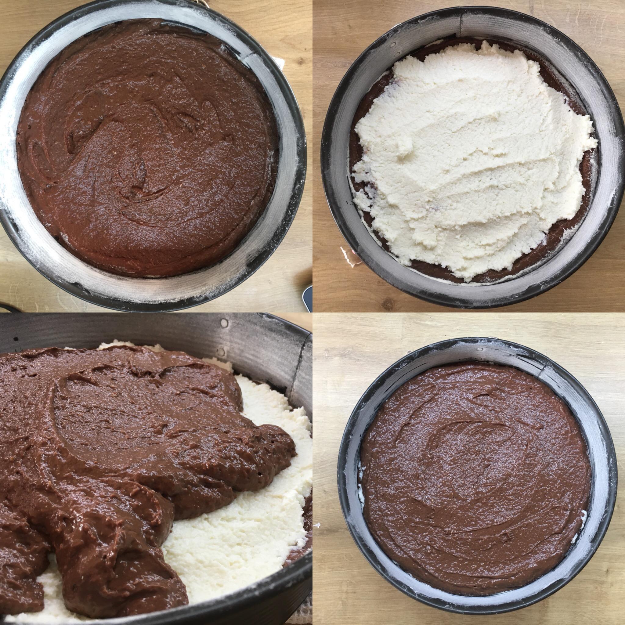 tort cu cacao și cremă de cocos
