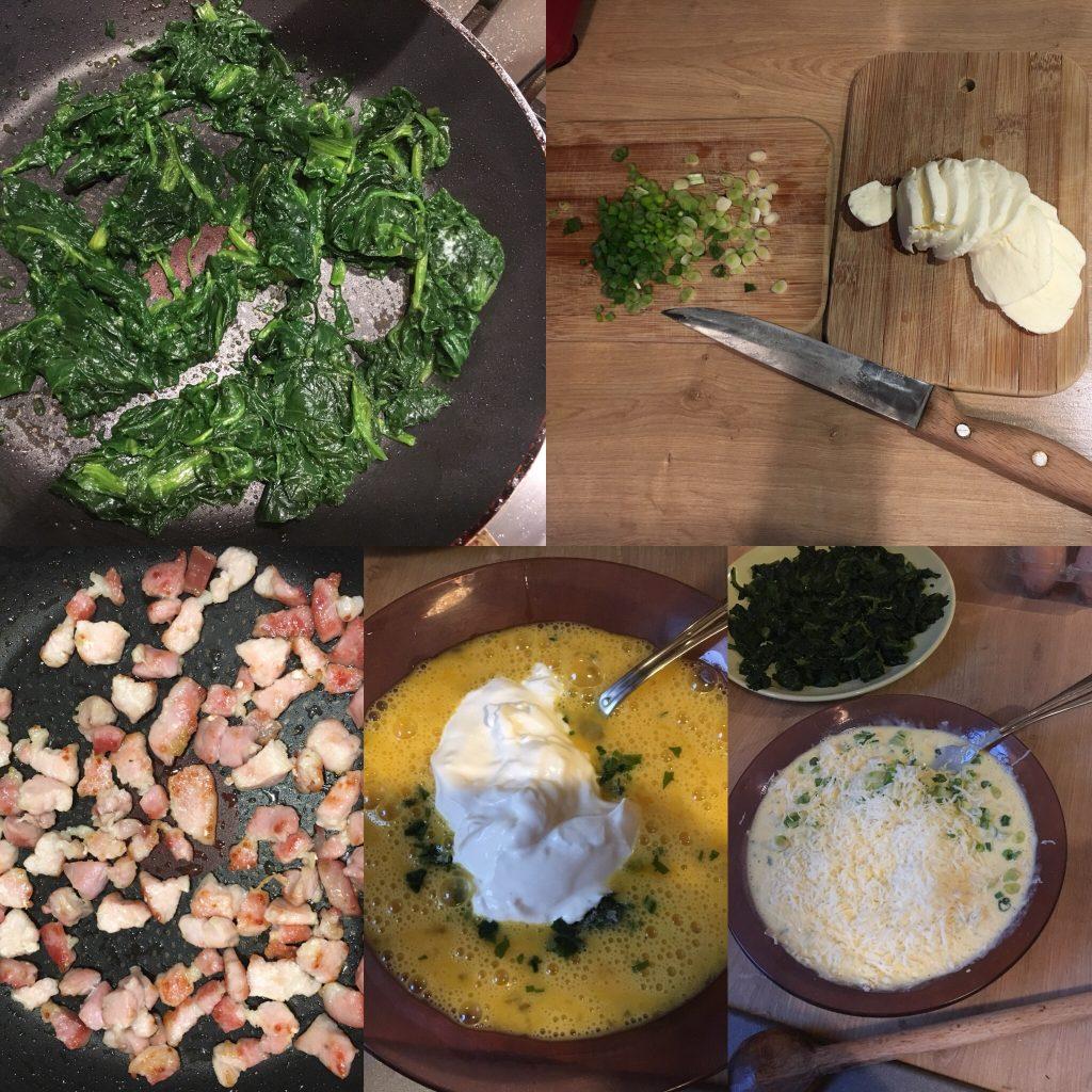 quiche cu spanac și mozzarella