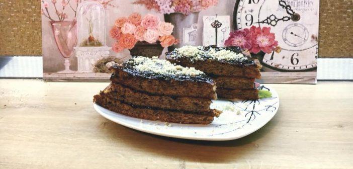 prăjitură pufoasă cu nucă, fără zahăr