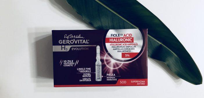 fiole cu Acid Hialuronic Gerovital H3 Evolution