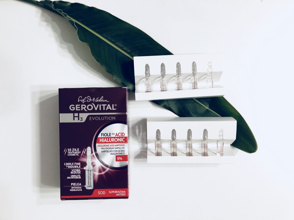 fiole cu Acid Hialuronic Gerovital H3 Evolution