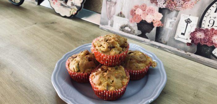 Muffins cu zucchini și șuncă